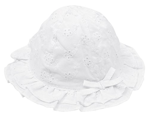 Baby Girl Princess Lace Hat Hollow Bucket Hat Lovely Floral Embroidered Floppy Wide Brim Sun Hats for 2-4T -