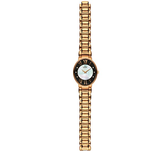 Charmex Montreux 6091 38x32mm Rose Gold Steel Bracelet & Case Synthetic Sapphire Women's Watch