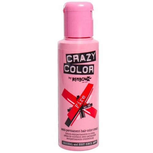 Renbow Crazy Color Semi Permanent Hair Color Cream Fire No.56 100ml