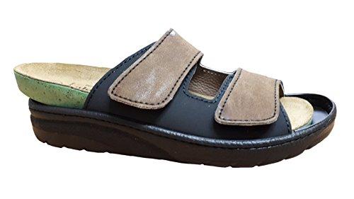 Algemare Algemeen Mens Pantolette 72602-3427 Brown Black Braun