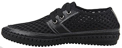 Water Mesh Shoes Walking Lightweight Breathable Black Casual Poseidon Shoes Men's 0q4RSv