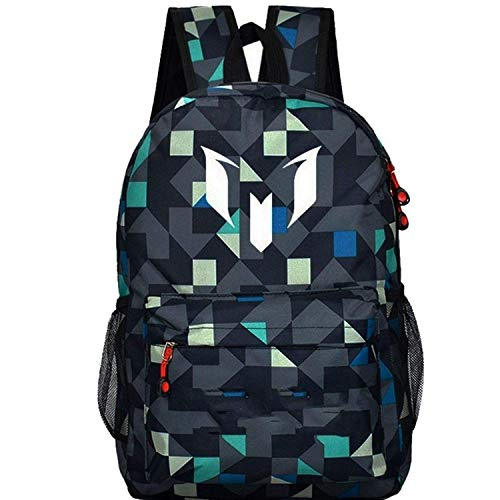 Teenagers for boys Messi Teen bookbag Backpack men back pack Male bag Kids Gift Bagpack,OneSize,Lattice1 ()