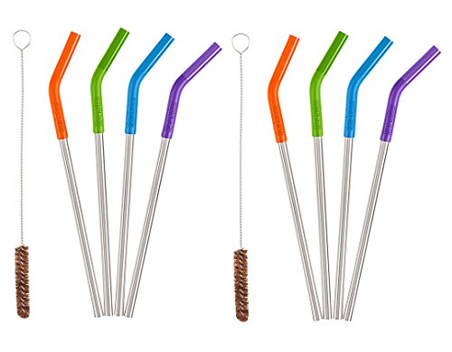 Klean Kanteen 5 Piece Stainless Steel Straw Set  - 8 Straws