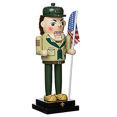 "Kurt Adler 12.5"" Wooden Boy Scout Nutcracker"