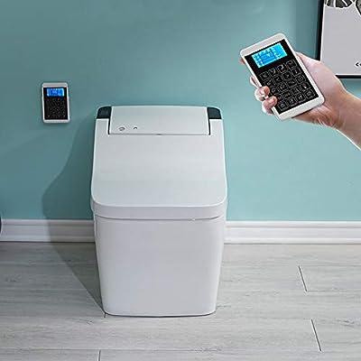 BTSSA Smart Toilet,One-Piece Toilet with,Bidet Functionality Auto-Sensing flip Foam Rinse Warm air Drying Night Illumination