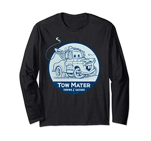 Disney Pixar Cars Tow Mater Salvage Badge Long Sleeve Tee
