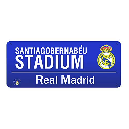Real Madrid FC Official Street Sign (One Size) (Blue)