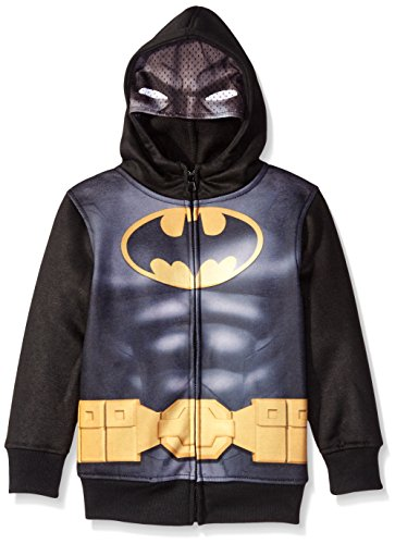 Batman Little Boys' Character Hoodie, Black, 7