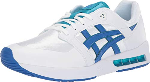 - ASICS Tiger Men's Gel-Saga SOU White/Illusion Blue 9.5 D US