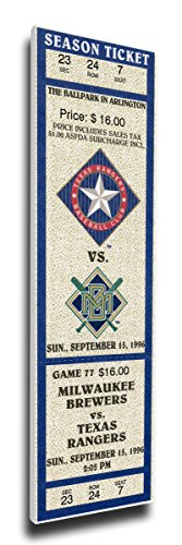 That's My Ticket Nolan Ryan Retirement Mega Ticket Wall Decor, Texas Rangers