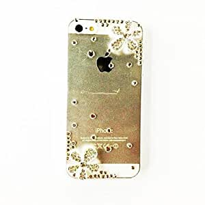 GJYFlowers Hand Made Diamond Bling Jewelry Plastic Hard Case for iPhone 5/5S , Silver