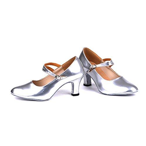 Silver Cadeaux 5 Femmes Danse 37 Chaussures 5CM Latine Dance Dance Tango YFF Danse PdqwFOO6
