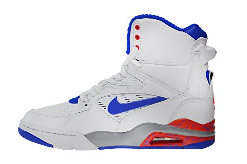 reputable site 98ed7 d1ee7 Nike Air Command Force Men s Shoes White Lyon Blue-Bright Crimson-Wolf Grey