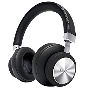 LINNER Noise Cancelling Headphones Large Ears, Wireless Noise Cancelling Headphones Bluetooth, Best Noise Cancelling Headphones with Microphone NC90