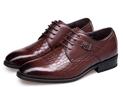 Respirant Brown Cuir Carrière Dress De Mariée British Robe Business Bureau Up Hommes En Shiney Pour Lace Chaussures wq48C8