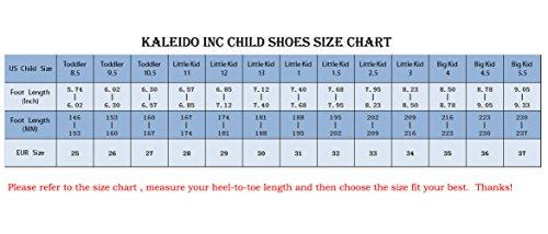 KaLeido Kids 7 Colors LED Light up Shoes Sneakers for Boys Girls (8.5 M US Toddler/EU 25, Black)