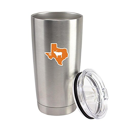 Original I Longhorn Texas 20 oz Vacuum Sealed 18/8 Stainless Steel Tumbler
