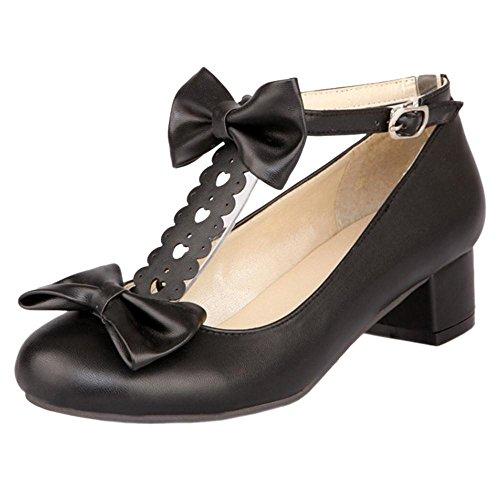Coolcept Zapatos de Tacon Ancho para Mujer Black