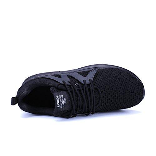 Jogging Noir de mode en air Course tricot Trail Baskets Fitness Baskets Chaussures Athlétique de sports Chaussures Sneakers homme Gym 8OwAH