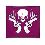 Skeleton Guns White Logo Personalized Throw Pillows Pillowcase
