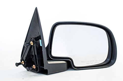 Dependable Direct Right Passenger Side Textured Non-Heated Folding Door Mirror for 99-07 Chevy Silverado, GMC (Yukon Xl 1500 2500 Mirror)