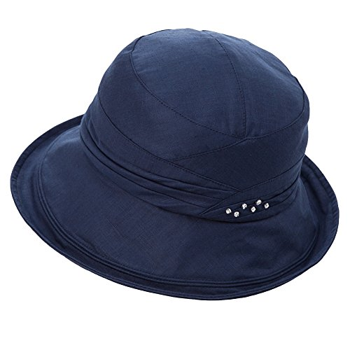 4941694a926 Womens UPF50 Cotton Packable Sun Hats w Chin Cord Wide Brim Stylish 54-60CM  - Buy Online in Oman.