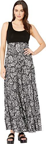 (Karen Kane Women's Tiered Maxi Dress Dress, Print, Extra Large)
