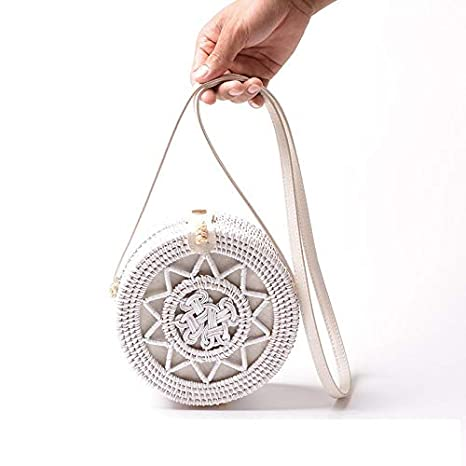 Amazon.com: Bali Bolsas de ratán redondas para mujer, color ...