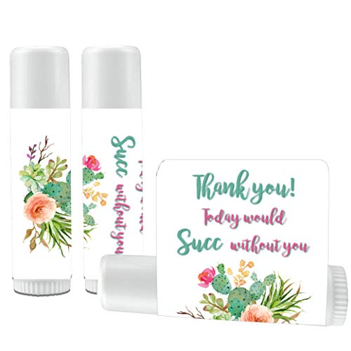 12 Succulent Lip Balm Favors - Succulent Party Favors - Succulent Bridal Shower - Succulent Birthday - Succulent Wedding Favors - Succulent Lip Balms ()