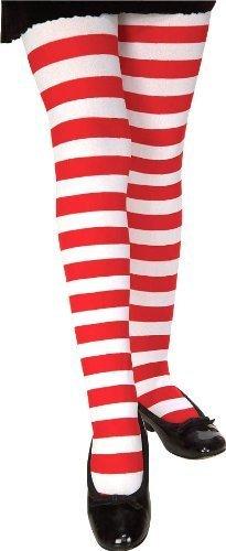 Rubie's Costume Co Child Rd/White Stripe Tights Costume, Small