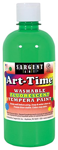 - Sargent Art 17-4766 Art-Time 16oz Green Washable Fluorescent Tempera Paint