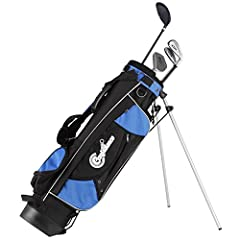 "Ages 4-7 Club Lengths: Driver/fairway wood with extra loft for easy hitting (36""), Oversized Ti-Matrix perimeter-weighted irons with large, forgiving sweet spot - 7 iron (30""), 9 iron (29""), White Ball Putter (27.5"") & longneck headcover...."