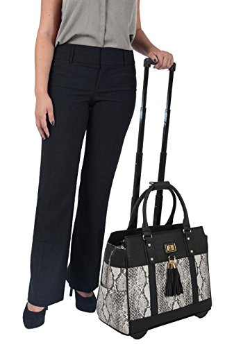 ''THE CORONADO'' Python & Alligator iPad, Tablet & Laptop Carryall Tote Bag by JKM and Company