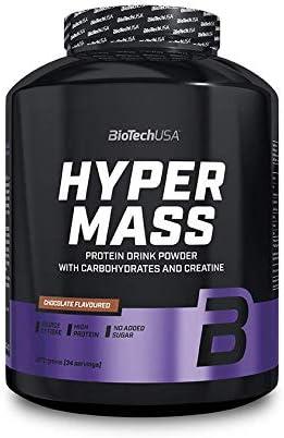 BioTechUSA Hyper Mass Bebida en polvo con carbohidratos, proteína y creatina, alto contenido de fibra dietética, sin azúcar añadido, 2.27 kg, Vainilla