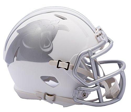 Riddell Helmet Panthers Replica Carolina (Riddell NFL Carolina Panthers Ice Alternate Speed Mini Replica, Silver, Small)