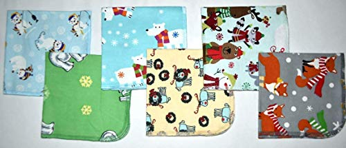 1 Ply 12x12 Inches Set of 5 Paperless Towels Happy Winter Animals