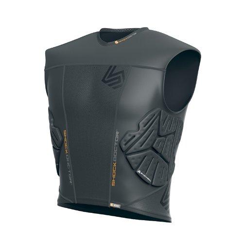 Shock Doctor Shockskin 3-Pad Sleeveless Impact Shirt (Grey, Men's X-Large)