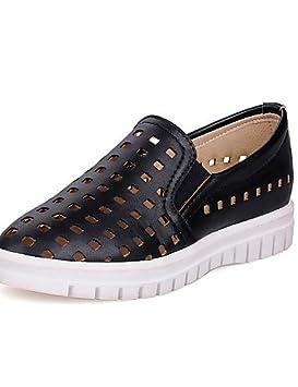 ZQ gyht Zapatos de mujer - Plataforma - Creepers / Punta Redonda - Mocasines - Exterior / Vestido / Casual - Semicuero - Negro / Rosa ...