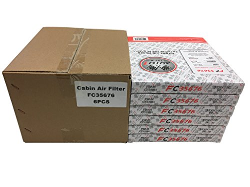 F1AUTO FC35676 FLAT PANEL CABIN AIR FILTER - CASE OF 6