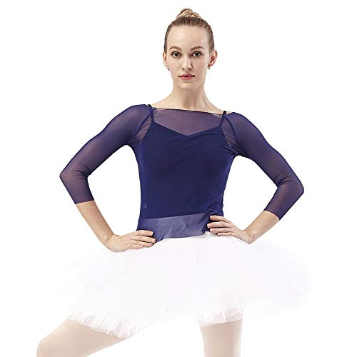 DANCEYOU Classic Women's Ballet Tutu Skirt for Dance Practice Performance White Size M (Elegance Nylon Brief Panty)