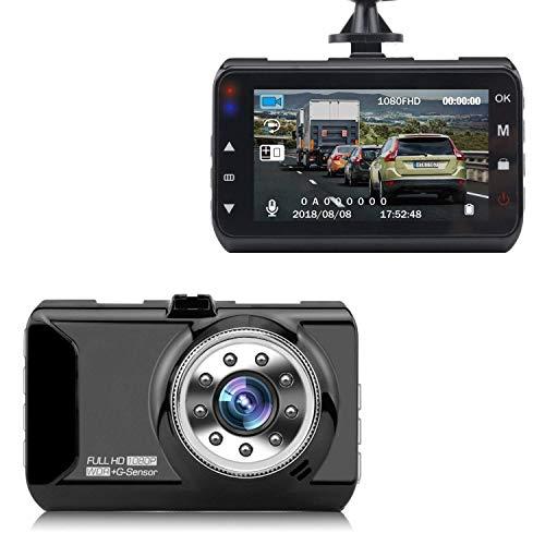 Dash Cam, Silipower Dashboard Camera Recorder 3.0 LCD FHD 1080P, Car Cam Vehicle DVR Built-in Night Vision, WDR, G-Sensor, Loop Recording