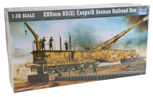 Trumpeter 1/35 German Railway Gun K5(E) (Railroad Gun)