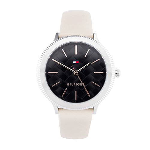 Tommy Hilfiger Candice Black Dial Leather Strap Ladies Watch 1781858