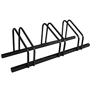 1 3 Bike Floor Parking Rack Storage Stand Bicycle