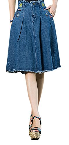 Women's Folk Style Pattern Embroidered A-line Skirts for sale  Delivered anywhere in USA