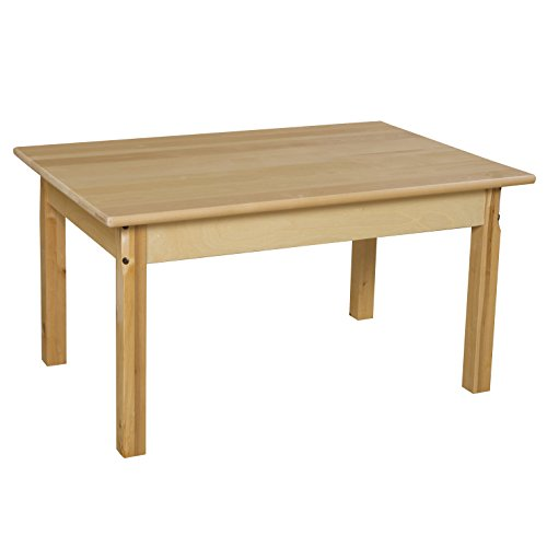 Wood Designs WD82318 Child's Table, 24'' x 36'' Rectangle with 18'' Legs by Wood Designs