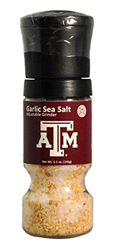 MyFanClip NCAA Texas A&M Aggies Garlic Sea Salt Grinder,6.75