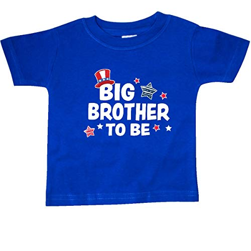 inktastic - Big Brother to Be with Stars Baby T-Shirt 18 Months Royal Blue 35f05
