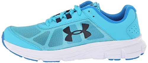 Under Armour Girls' Grade School Rave 2 Sneaker, Alpine (301)/Blue Circuit, 4 by Under Armour (Image #5)