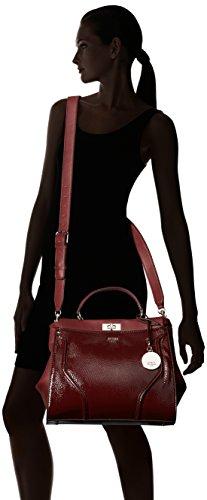 Guess Damen Georgie Satchel Handtaschen, Einheitsgröße Rot (Bordeaux)